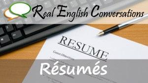 Resume for jobs english conversations