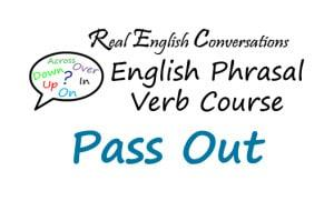 phrasal verb Pass Out
